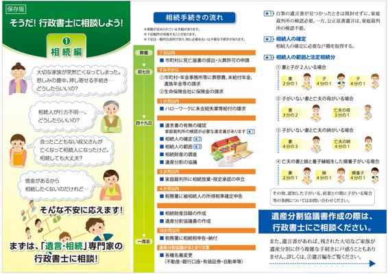 大阪府行政書士のリーフレットデザイン(表)
