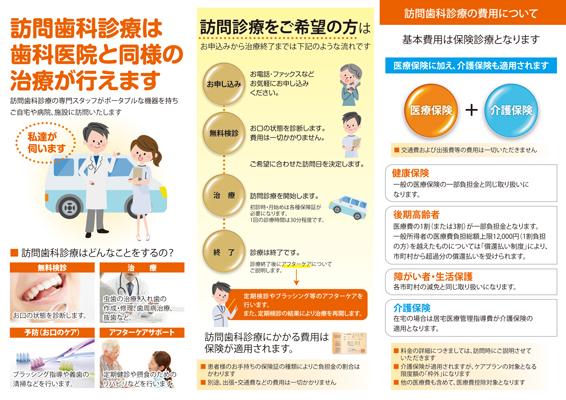 訪問歯科診療のリーフレットデザイン(裏)