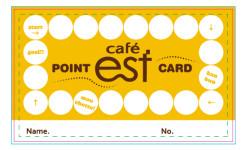 カフェのポイントカードデザイン(表)