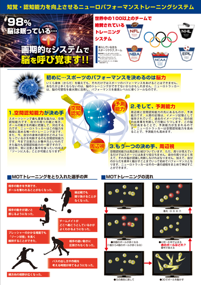 スポーツジム・パーソナルトレーナーのチラシデザイン(裏)