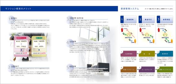 中古マンションを専門に扱う不動産会社のパンフレットデザイン(裏)