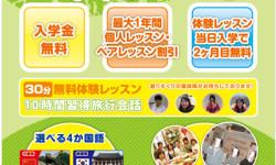 外語学院の3大キャンペーンチラシデザイン(表)