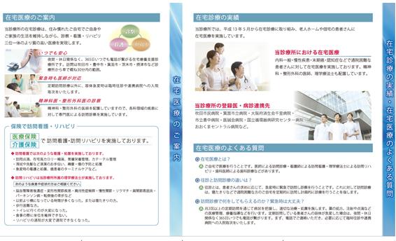 診療所のパンフレットデザイン(裏)