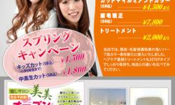 美容室のスプリングキャンペーン用チラシ