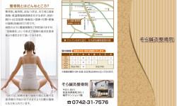 鍼灸接骨院のリーフレットデザイン(表)