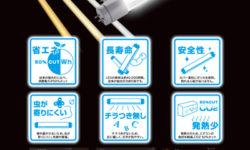 LED蛍光灯販売促進チラシデザイン(表)
