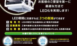 水銀灯中止に向けたLED照明の販売促進チラシ